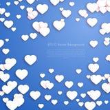 Предпосылка сердец дня валентинок Стоковая Фотография RF