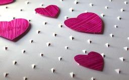 Предпосылка сердец отрезка бумаги Стоковая Фотография RF