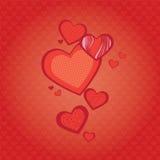 Предпосылка сердец Стоковые Изображения RF