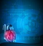 Предпосылка сердца абстрактная голубая иллюстрация штока