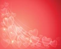 Предпосылка сердца валентинки Стоковая Фотография RF