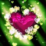 Предпосылка сердца валентинки Стоковые Изображения