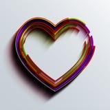 Предпосылка сердца вектора современная Стоковое Изображение RF