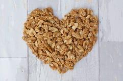 Предпосылка сердца грецкого ореха Стоковое фото RF