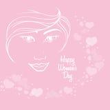 предпосылка сердца девушки стороны силуэта дня счастливых женщин бесплатная иллюстрация