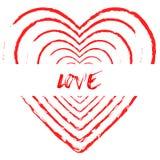 Предпосылка сердца крови текста влюбленности Стоковые Изображения