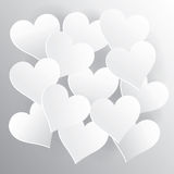 Предпосылка сердца Стоковое Изображение RF