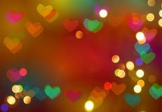 Предпосылка сердца Bokeh форменная стоковое изображение rf