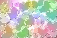 Предпосылка сердца Bokeh цветастая. Стоковая Фотография RF