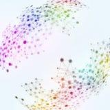Предпосылка сети технологии Multicolor Стоковые Изображения RF