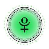 Предпосылка символа планеты Плутона Стоковое Изображение
