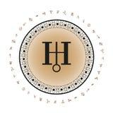 Предпосылка символа планеты Урана Стоковая Фотография RF