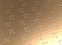 Предпосылка символа Pi золотая Стоковые Изображения