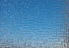 Предпосылка синего стекла Стоковые Изображения RF