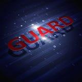 Предпосылка сини бинарного кода цифров Guaerd Стоковое Изображение RF