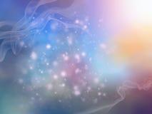 Предпосылка сини бирюзы фиолетовым бежевым запачканная конспектом Стоковое Фото