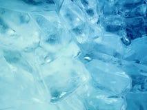 Предпосылка сини зимы иллюстрации льда Стоковое Изображение RF