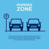 Предпосылка сини зоны автостоянки также вектор иллюстрации притяжки corel Стоковое Фото