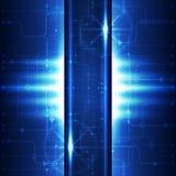 Предпосылка сини концепции абстрактной технологии также вектор иллюстрации притяжки corel Стоковое Фото