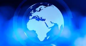 Предпосылка сини мировоззренческой доктрины интернета Стоковые Фотографии RF