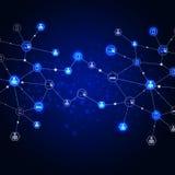 Предпосылка сини связей сети Стоковые Фото