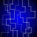 Предпосылка сини техника Стоковые Фото