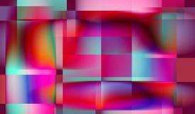 Предпосылка сирени покрашенная красным цветом с квадратами Стоковые Фотографии RF