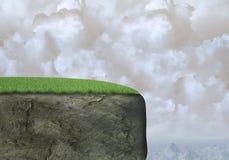 Предпосылка скалы горы утеса, облака Стоковое Фото