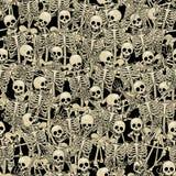 Предпосылка скелетов безшовная Стоковая Фотография