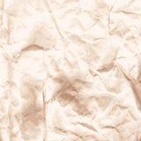 Предпосылка скомканной бумаги kraft Стоковая Фотография RF