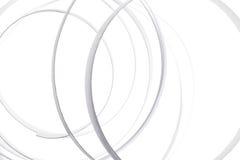 Предпосылка скручиваемости белым изолированная конспектом Стоковые Фотографии RF