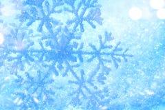 Предпосылка снега зимнего отдыха Снежинка Стоковое Изображение RF