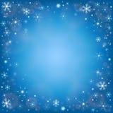Предпосылка снега зимы морозная Стоковые Изображения