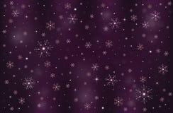 Предпосылка снега зимы снежинок морозная Стоковая Фотография