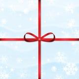 Предпосылка снега Нового Года и рождества Стоковое Изображение