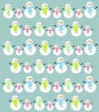 Предпосылка снеговика шаржа Стоковые Фотографии RF
