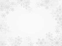 Предпосылка снежинки зимы вектора Стоковое фото RF