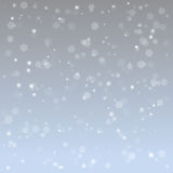 Предпосылка снежинки иллюстрации абстрактная Стоковые Фотографии RF