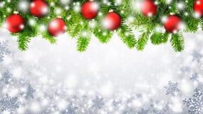 Предпосылка снежинок рождества Стоковое Изображение RF