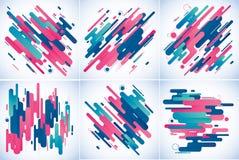 Предпосылка современных нашивок абстрактная Стоковые Изображения