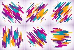 Предпосылка современных нашивок абстрактная Стоковое Изображение