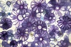 Предпосылка состоя из фиолетовых маргариток Стоковое Фото