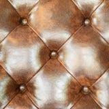Предпосылка софы драпирования кожи Брайна для украшения Стоковая Фотография RF