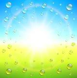 предпосылка солнечная Стоковые Изображения