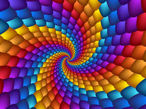Предпосылка спирали радуги искусства цифров гипнотическая абстрактная Стоковое Фото