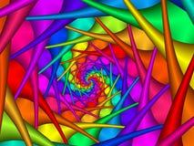 Предпосылка спирали радуги конспекта искусства цифров Стоковое Изображение RF