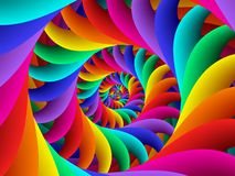 Предпосылка спирали радуги конспекта искусства цифров Стоковое Фото