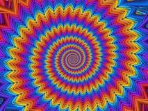 Предпосылка спирали радуги конспекта искусства цифров Стоковая Фотография RF