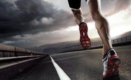 Предпосылка спорта бегунок Стоковые Изображения