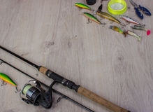 Предпосылка спортивной рыбалки стоковое изображение